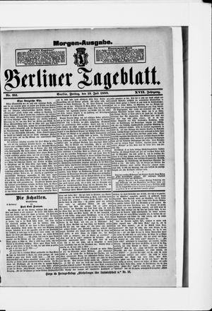 Berliner Tageblatt und Handels-Zeitung vom 13.07.1888