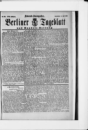 Berliner Tageblatt und Handels-Zeitung vom 14.07.1888