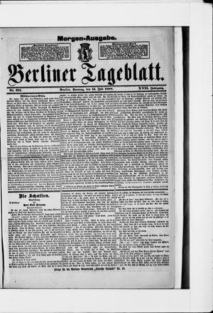 Berliner Tageblatt und Handels-Zeitung vom 15.07.1888