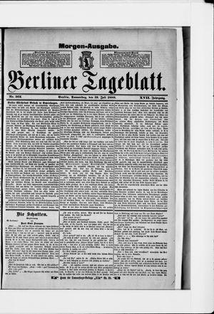 Berliner Tageblatt und Handels-Zeitung vom 19.07.1888