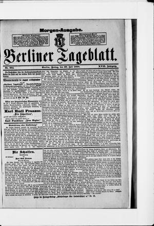 Berliner Tageblatt und Handels-Zeitung vom 20.07.1888