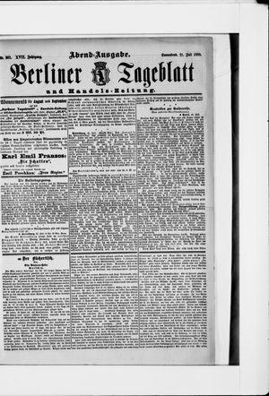 Berliner Tageblatt und Handels-Zeitung vom 21.07.1888