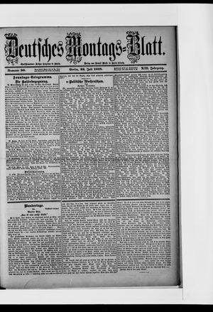 Berliner Tageblatt und Handels-Zeitung on Jul 23, 1888