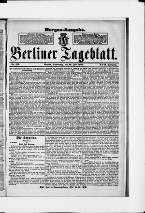 Berliner Tageblatt und Handels-Zeitung vom 26.07.1888