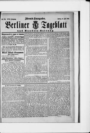 Berliner Tageblatt und Handels-Zeitung vom 27.07.1888
