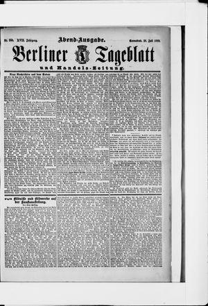 Berliner Tageblatt und Handels-Zeitung vom 28.07.1888