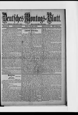 Berliner Tageblatt und Handels-Zeitung vom 30.07.1888