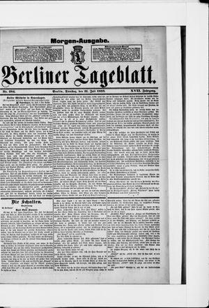 Berliner Tageblatt und Handels-Zeitung vom 31.07.1888