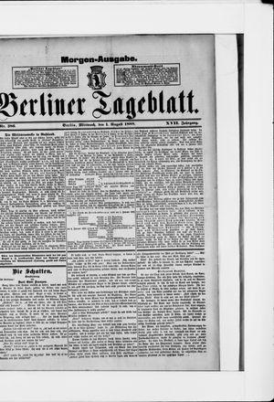 Berliner Tageblatt und Handels-Zeitung vom 01.08.1888