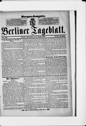 Berliner Tageblatt und Handels-Zeitung on Aug 2, 1888