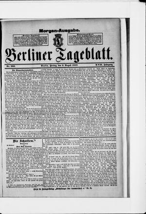Berliner Tageblatt und Handels-Zeitung vom 03.08.1888