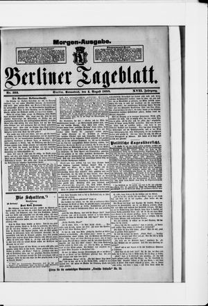 Berliner Tageblatt und Handels-Zeitung vom 04.08.1888
