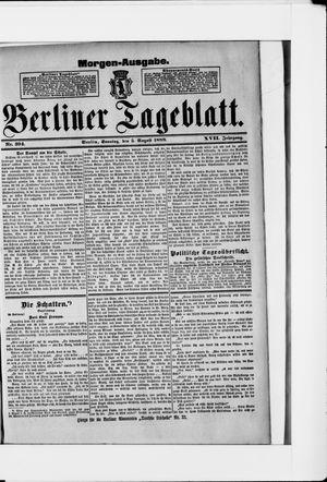 Berliner Tageblatt und Handels-Zeitung vom 05.08.1888