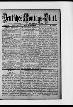 Berliner Tageblatt und Handels-Zeitung vom 06.08.1888