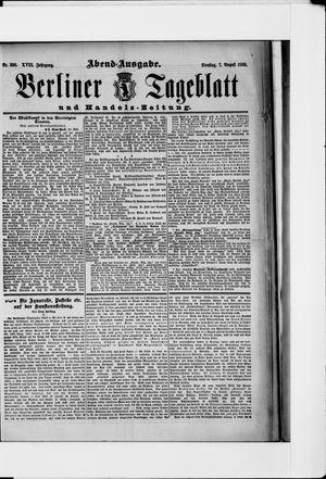 Berliner Tageblatt und Handels-Zeitung vom 07.08.1888