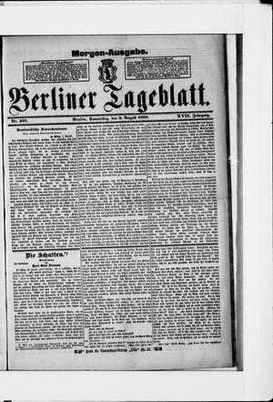 Berliner Tageblatt und Handels-Zeitung vom 09.08.1888
