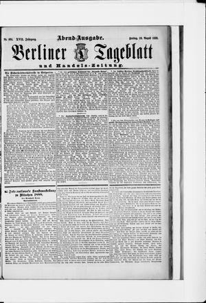 Berliner Tageblatt und Handels-Zeitung vom 10.08.1888
