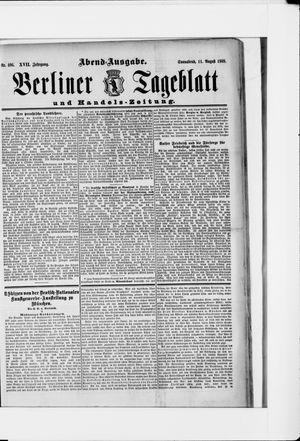 Berliner Tageblatt und Handels-Zeitung vom 11.08.1888