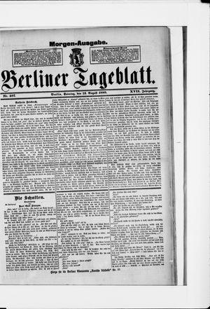 Berliner Tageblatt und Handels-Zeitung vom 12.08.1888