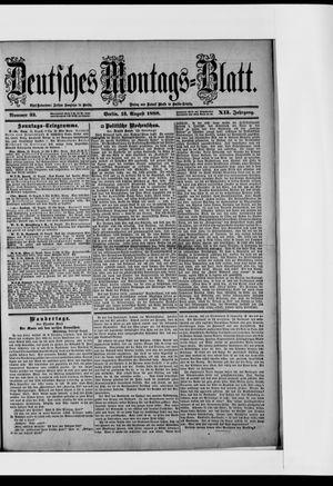 Berliner Tageblatt und Handels-Zeitung vom 13.08.1888
