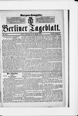 Berliner Tageblatt und Handels-Zeitung vom 14.08.1888