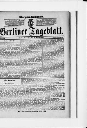 Berliner Tageblatt und Handels-Zeitung vom 16.08.1888