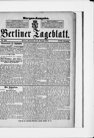 Berliner Tageblatt und Handels-Zeitung vom 18.08.1888
