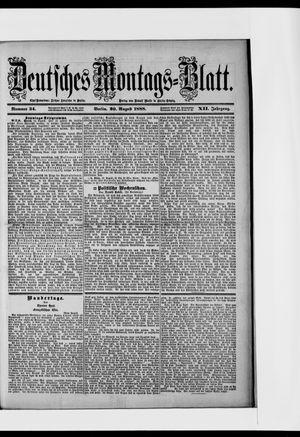 Berliner Tageblatt und Handels-Zeitung vom 20.08.1888