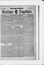 Berliner Tageblatt und Handels-Zeitung (20.08.1888)