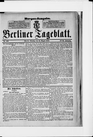 Berliner Tageblatt und Handels-Zeitung vom 21.08.1888
