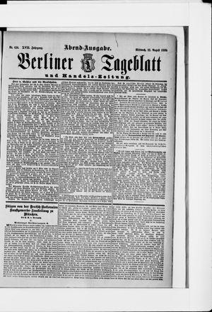Berliner Tageblatt und Handels-Zeitung vom 22.08.1888