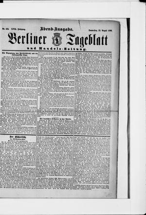 Berliner Tageblatt und Handels-Zeitung vom 23.08.1888