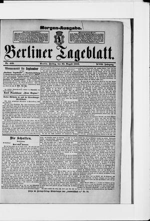 Berliner Tageblatt und Handels-Zeitung vom 24.08.1888