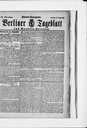 Berliner Tageblatt und Handels-Zeitung vom 25.08.1888