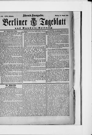 Berliner Tageblatt und Handels-Zeitung vom 27.08.1888