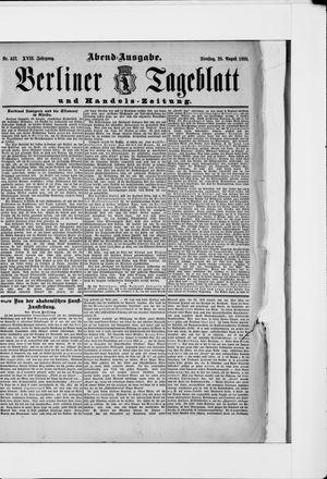 Berliner Tageblatt und Handels-Zeitung vom 28.08.1888