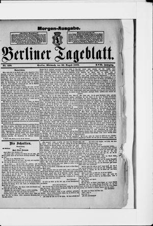 Berliner Tageblatt und Handels-Zeitung vom 29.08.1888