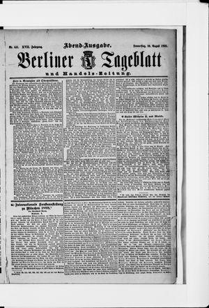 Berliner Tageblatt und Handels-Zeitung vom 30.08.1888