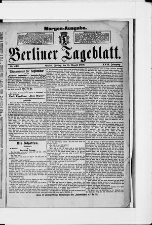 Berliner Tageblatt und Handels-Zeitung vom 31.08.1888