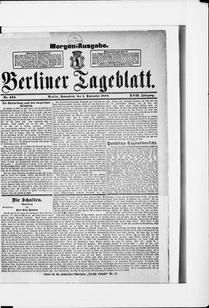 Berliner Tageblatt und Handels-Zeitung vom 01.09.1888