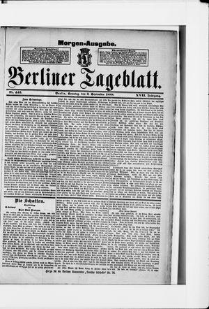 Berliner Tageblatt und Handels-Zeitung vom 02.09.1888