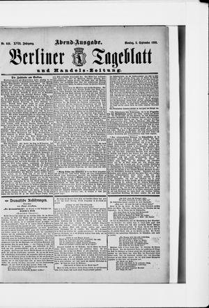 Berliner Tageblatt und Handels-Zeitung vom 03.09.1888
