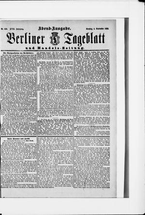 Berliner Tageblatt und Handels-Zeitung vom 04.09.1888