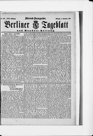Berliner Tageblatt und Handels-Zeitung vom 05.09.1888