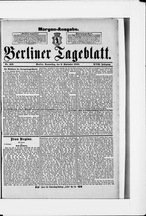 Berliner Tageblatt und Handels-Zeitung vom 06.09.1888