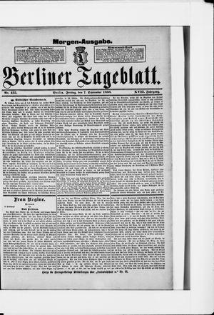 Berliner Tageblatt und Handels-Zeitung vom 07.09.1888