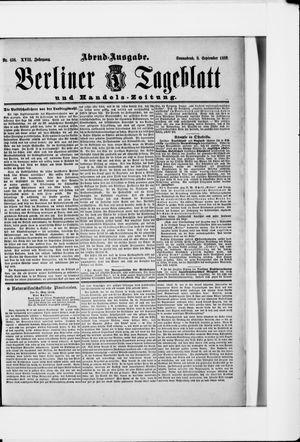 Berliner Tageblatt und Handels-Zeitung vom 08.09.1888