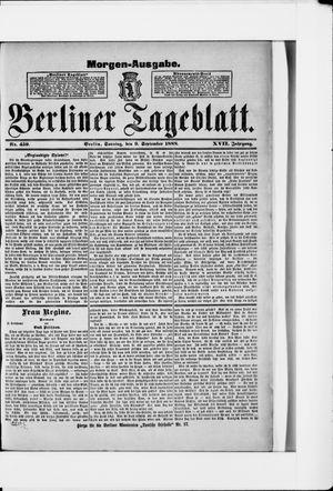 Berliner Tageblatt und Handels-Zeitung vom 09.09.1888