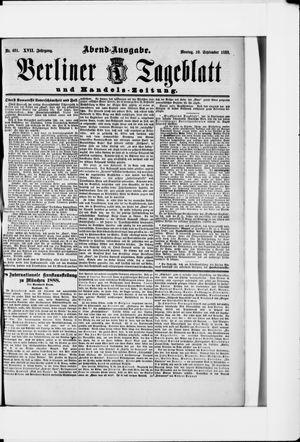 Berliner Tageblatt und Handels-Zeitung vom 10.09.1888