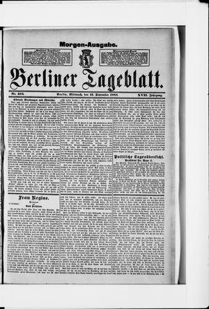 Berliner Tageblatt und Handels-Zeitung vom 12.09.1888